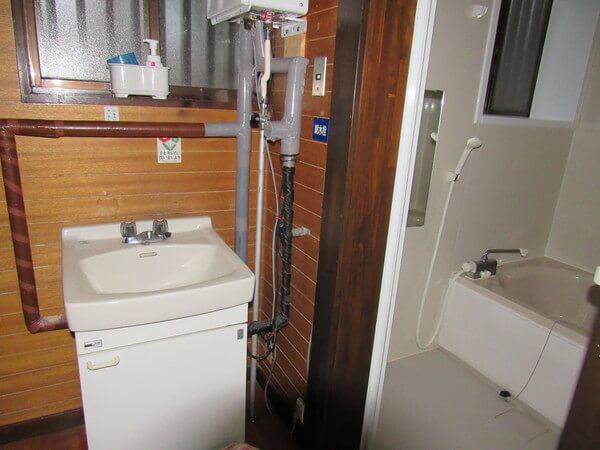 立山山麓家族旅行村洗面所とお風呂