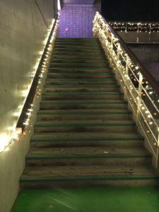 階段と電飾