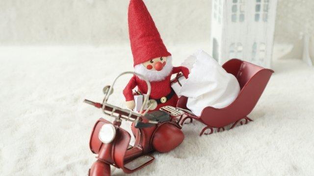 サンタのバイク便