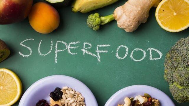 スーパーフードの文字