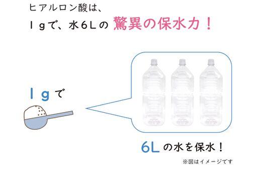 ヒアルロン酸の保湿力